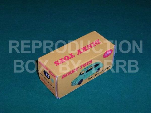 Dinky #183 Fiat 600 Saloon - Reproduction Box ( Light Green )